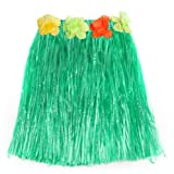 Beyondfashion Hawaii Hawaiian Grass Straw Fancy Dress Dancing Hula Girl Skirt - Green