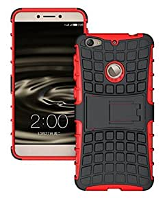 Dashmesh Shopping Hybrid case for LETV Le 1S Le1s , Rugged Dual Layer TPU + PC Kickstand Hybrid Case Back Cover for LETV Le 1S Le1s Red