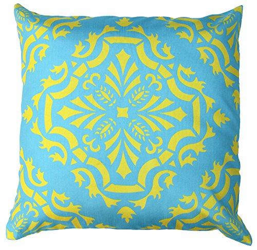Autumn SALE - Throw Pillow Covers - 18x18 Inch Cushion Cover with Zipper - Decorative Aqua Blue ...