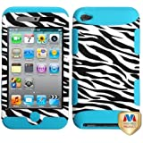 MyBat TUFF Hybrid Protector Cover for iPod touch Generation 4 (Black/Tropical Teal)