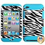 Zebra Skin/Tropical Teal TUFF Hybrid Phone Protector Cover