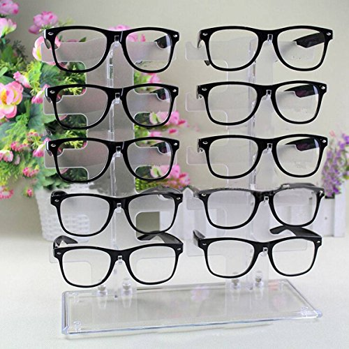 Charminer 10 Pair Acrylic Clear Sunglasses Glasses Display Rack Counter Show Stand Useful (Glasses Display compare prices)