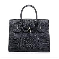 Kattee Designer Crocodile Embossed Genuine Leather Handbag