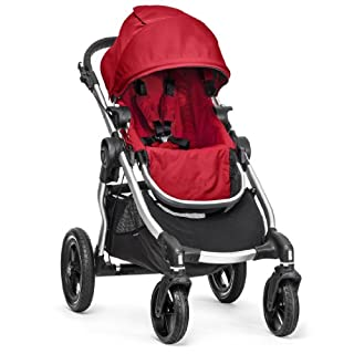 Baby Jogger City Select Silver Frame Stroller, Ruby