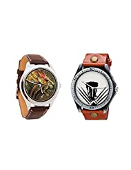 Foster's Men's Brown Dial And Gledati Men's Grey Dial Analog Watch Combo_ADCOMB0001714