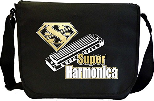 Harmonica Super - Sheet Music Document Bag Borsa Spartiti MusicaliTee