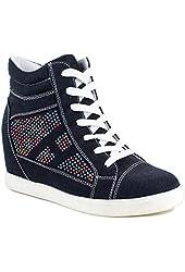 Reneeze Womens Dolly-01 Wedge Sneaker Booties