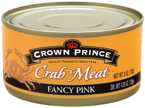 Crown Prince Fancy Pink Crab Meat, 6-Ounce Cans (Pack of 12) (Can Crab Meat compare prices)