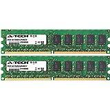 2GB KIT (2 x 1GB) For Dell PowerEdge Series 440 800 830 840 850 860 SC420 SC430 SC440. DIMM DDR2 ECC Unbuffered PC2-4200 533MHz Single Rank RAM Memory. Genuine A-Tech Brand.