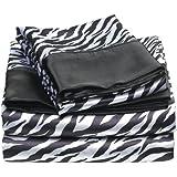 Divatex Home Fashions Royal Opulence Satin Sheet Set Zebra Queen