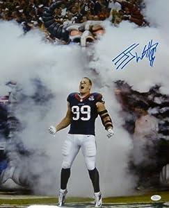 JJ Watt Autographed Houston Texans Vertical Smoke 16x20 Photo w JSA by DenverAutographs