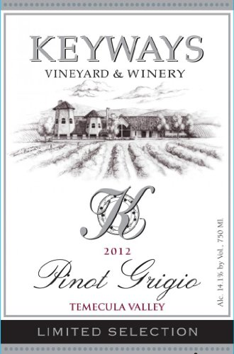 2012 Keyways Vineyard And Winery Limited Selection Pinot Grigio, Temecula Valley 750 Ml