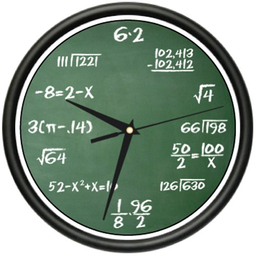 MATH CLASS Wall Clock mathematics teacher classroom gift