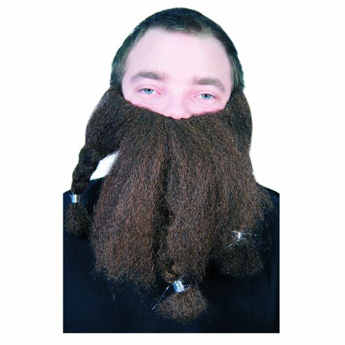 HMS 9 Inch Halfling Beard, Brown, One Size