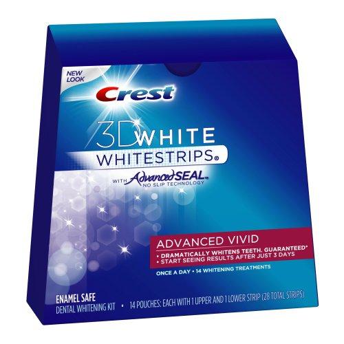 Crest 3D White Advanced Vivid Whitestrips, 28-Count Box