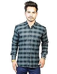 Trendster Checkered Grey-Light Grey Full Sleeve Shirt