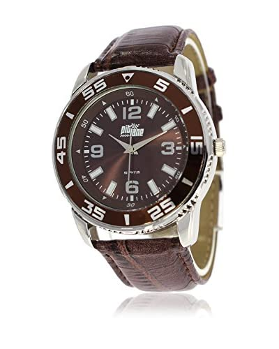 Pit Lane Uhr mit Miyota Uhrwerk Pl-3001-1 braun 40 mm
