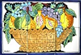 Decorative Ceramic Tiles: Hand Painted Mosaic Mural Kitchen Bath Patio Wall Décor 18 Inch x 12 Inch