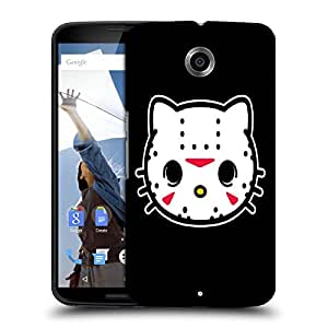 Snoogg White Cat Face Designer Protective Back Case Cover For MOTOROLA NEXUS 6