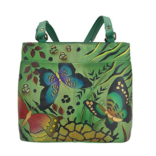 anuschka-anna-by-handpainted-leather-twin-top-tote-anb-g-animal-butterfly-green