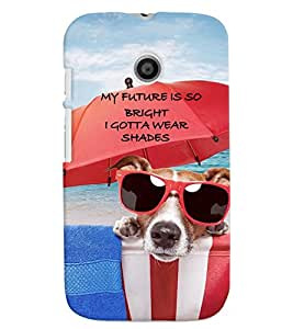PrintVisa Quotes & Messages Attitude Life 3D Hard Polycarbonate Designer Back Case Cover for Motorola Moto E