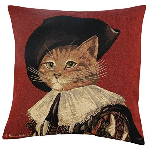 Elegante Copricuscino, Cuscino decorativo cellulare 46 x 46 cm Susan Herbert - d' Artagnan Red, Set Cushion