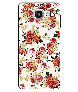 EU4IA Floral Pattern MATTE FINISH 3D Back Cover Case For GALAXY A5 (2016) NEW...