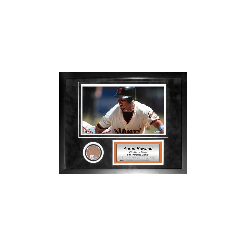 Steiner Sports MLB San Francisco Giants Aaron Rowand 11 x 14 inch Mini Dirt Collage