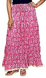 Rangreja Women's Skirt (WSK129PW36_Pink_36)