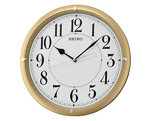 Seiko Wall Clock (31 cm x 31 cm x 5 cm, Gold, QXA637GN)  available at amazon for Rs.2740