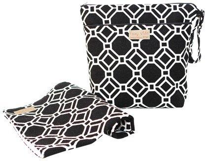 Foxy Vida Wet Bag Set - Black Lattice - 1