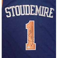 Amare Stoudemire New York Knicks Autographed Blue #1 Jersey