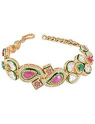 Bharat Sales Style Diva Multi Gold Plated Bracelete For Women
