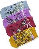 (ディズニー)Disney 4足組 308-26L0 子どもくつ下 フロントスニーカーイン丈 プリンセスキャラクター(ラプンツェル&シンデレラ&白雪姫&ベル) AMK-0126 001 アソート 001 23(23-25cm)