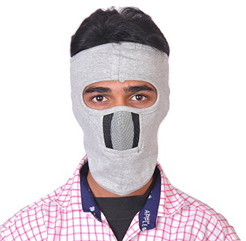 Dhoom 3 eTijaarath Velcro Closure Bike Riders Mask Anti Pollution & Dust Safety,(White)