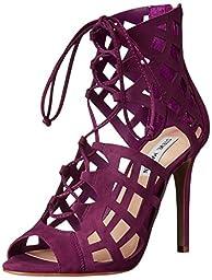 Steve Madden Women\'s Sedduce Dress Sandal, Purple Nubuck, 8 M US