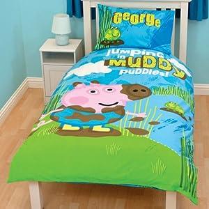 Peppa Pig George Kids Boys Reversible Single Duvet Quilt