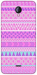 Snoogg Pink Aztec Pattern Designer Protective Back Case Cover For Micromax Un...