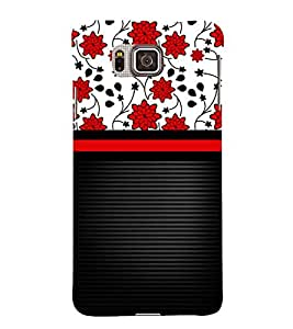 Lovely Flowers Girl Design 3D Hard Polycarbonate Designer Back Case Cover for Samsung Galaxy Alpha G850