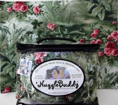 "'Nugglebuddy Microwaveable Moist Heat & Aromatherapy Organic Rice Pack. Cold Pack! ""Secret Garden"" Fabric. Lavender & Lemongrass Aromatherapy!"