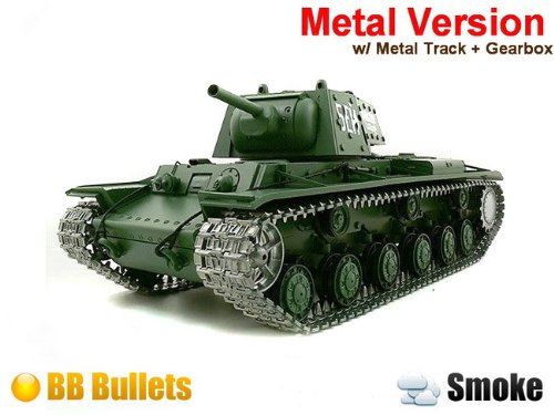 1/16 Russian KV-1's Ehkranami Airsoft RC Battle Tank w/ Sound & Smoking (Upgrade Version w/ Metal Gear & Tracks)