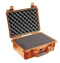 Pelican 1450 Case with Foam for Camera (Orange)