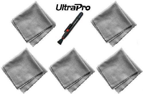 (5 Pack, Bonus Cleaning Pen) Ultrapro Microfiber Cleaning Cloths - For Tablets, Lenses, Smartphones And Other Delicate Surfaces. Great For Iphone, Ipad, Android, Blackberry, And More!