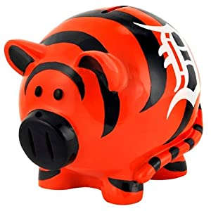 Detroit Tigers Piggy Bank - Thematic Large