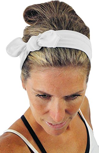 ice cream White Removable Bow Athletic Headband: No slip, Ultra Comfy, Durable & Machine-Washable (Ice Cream Athletics compare prices)