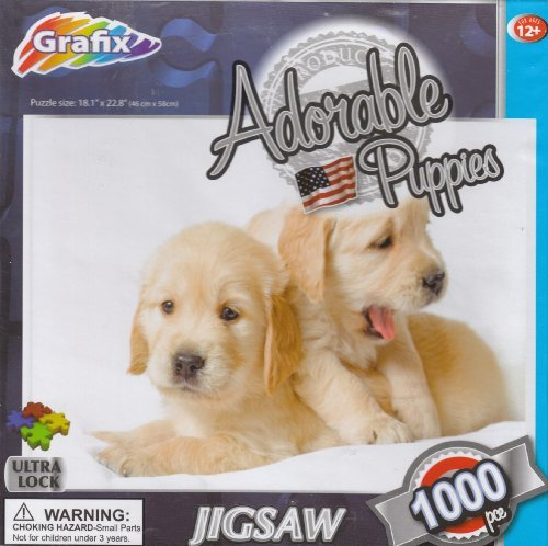 Adorable Puppies 1000 Piece Puzzle - 1