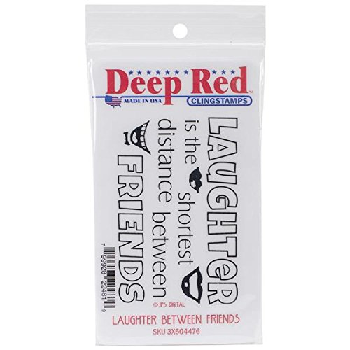 Deep Red Stamps Laughter Between Friends Rubber Stamp - 1