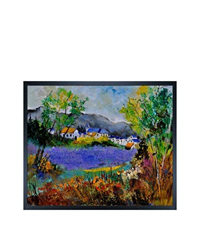 "Pol Ledent ""Summer In Sosoye"" Framed Canvas Print"