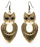 Cinderella Golden Owl Earrings