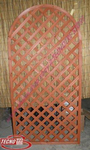 Pannello grigliato ad arco divisorio legno cedro parete for Grigliato ad arco
